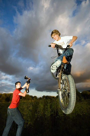 photographer and rider